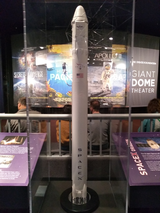 Display model of SpaceX Falcon 9