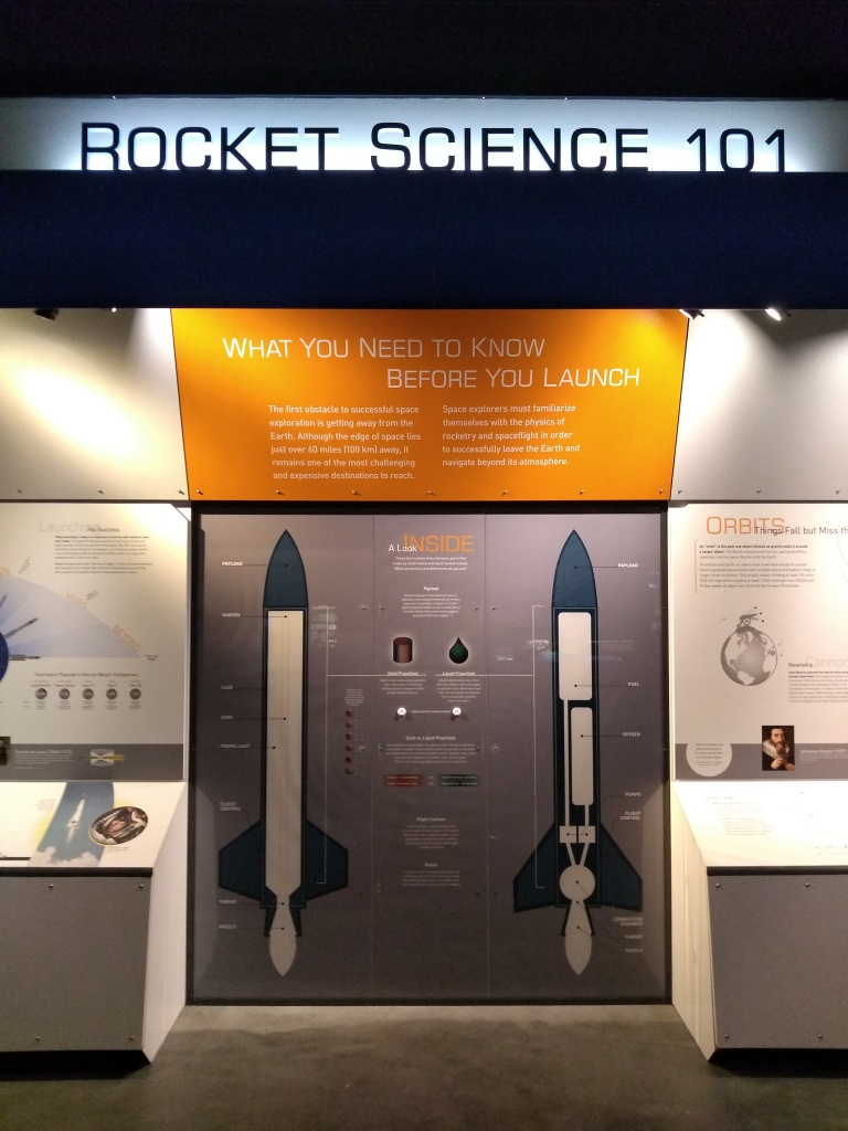 Museum display titled Rocket Science 101