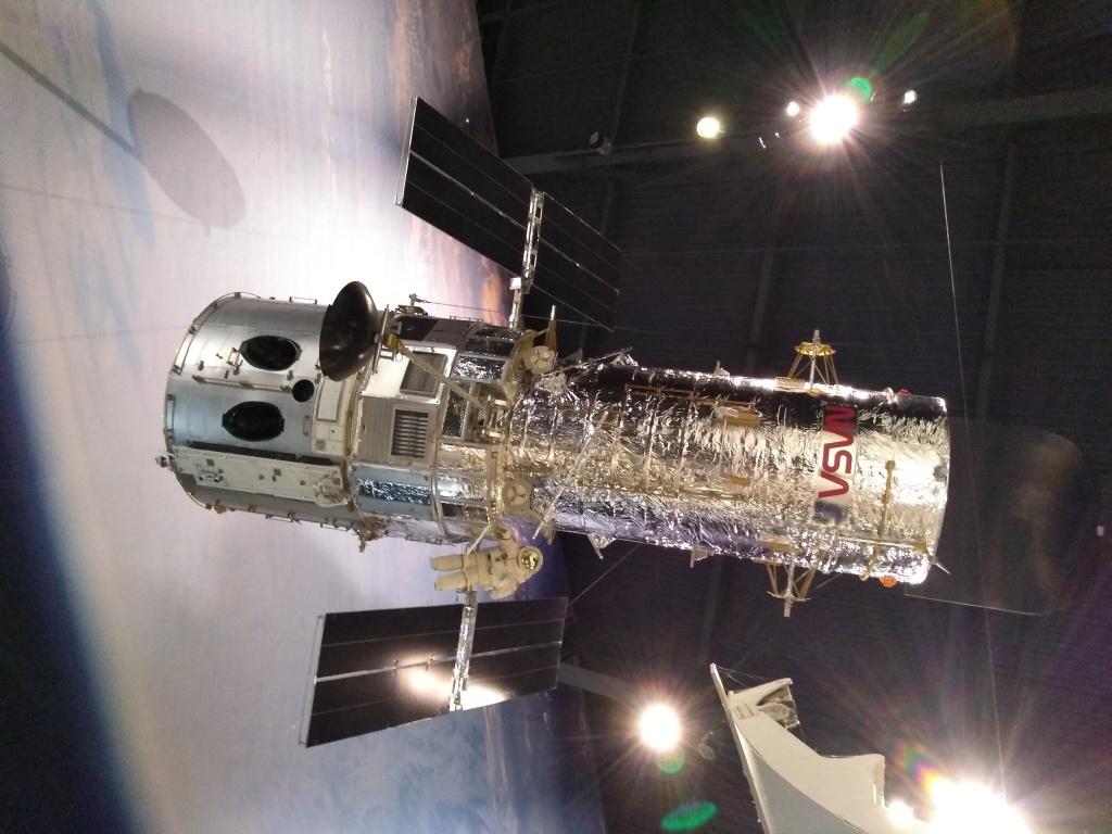 Life sized model of the Hubble telescope