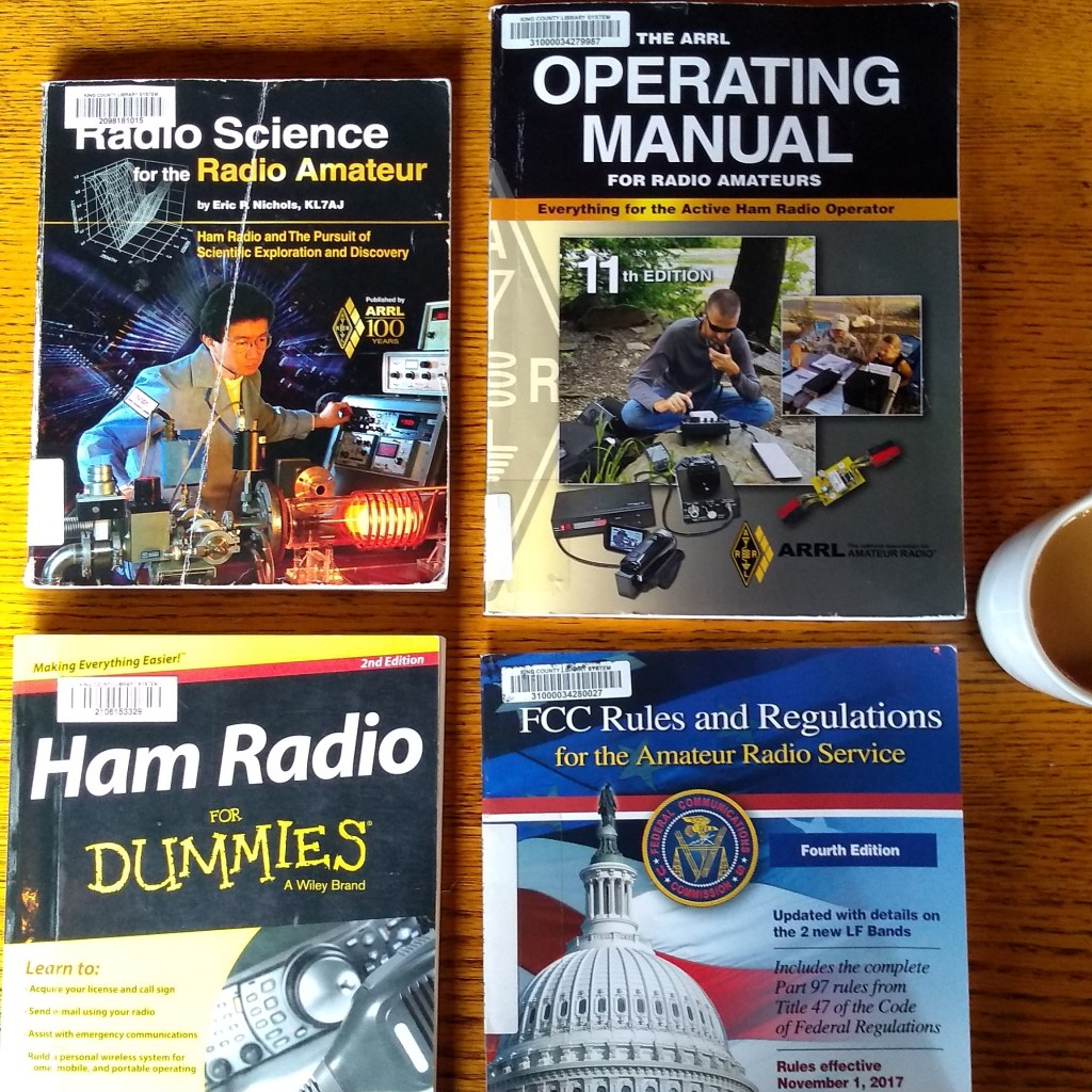 Four books on ham radio