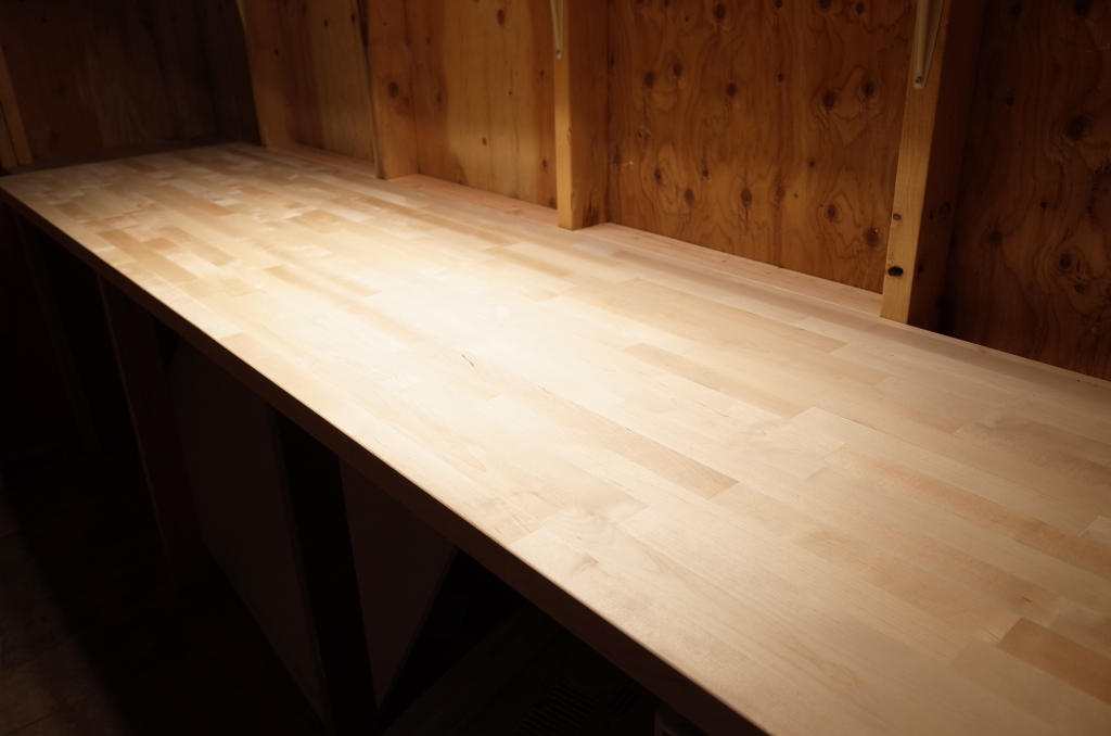 Butcher block work bench