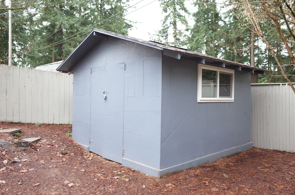 Shed with window added on side