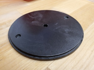 black circular aluminum bulk plate for e-bay
